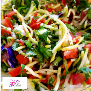 Broccoli Slaw Pico de Gallo https://mythings2do.com/2018/06/04/shrimp-tacos-with-broccoli-slaw-pico-de-gallo